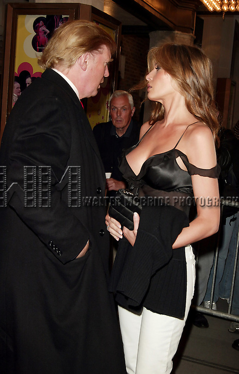 Donald Trump with his wife Melania Knauss Trump<br />