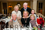 91st Birthday : John Dore, Ballaugh, Co. limerick celabrating his 91st birthday with family at the Listowel Arms Hotel on Saturday night last. Front : John Dore, Mary & Aoife Poulter. Back : Eileen Dore & Jeff & Eabha Poulter.