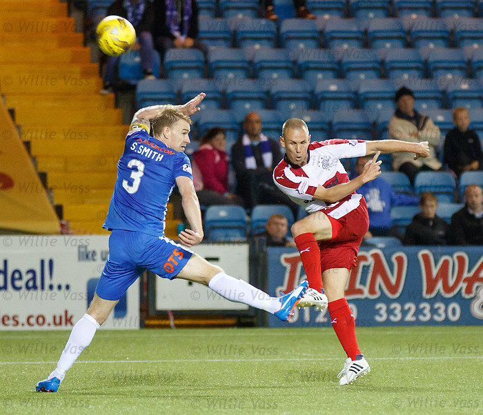 Kenny Miller blocked by Stevie Smith
