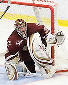 Parker Milner (BC - 35) - The Boston College Eagles defeated the Harvard University Crimson 3-2 on Wednesday, December 9, 2009, at Bright Hockey Center in Cambridge, Massachusetts.