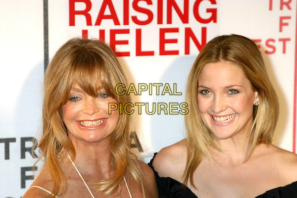 "GOLDIE HAWN & KATE HUDSON.3rd Annual Tribeca Film Festival - ""Raising Helen"" - Arrivals.Tribeca Performing Arts Center New York City, New York.May 1, 2004 .headshot, portrait, smiling, mother, daughter, family.www.capitalpictures.com.sales@capitalpictures.com.Supplied By Capital Pictures"