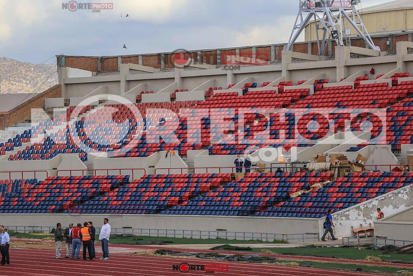 Vista General del Estadio Heroe de Nacozari sede del equipo de futbol Cimarrones de Sonora, previo al inicio del Torneo Clausura 2016 de la Liga de ascenso MX, en Hermosillo, Mexico.