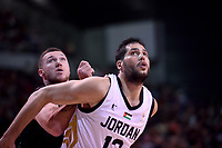 Jordan's Mohammad Hussein in action during the FIBA World Cup Basketball Qualifier - NZ Tall Blacks v Jordan at Horncastle Arena, Christchurch, New Zealand on Thursday 29 November  2018. <br /> Photo by Masanori Udagawa. <br /> www.photowellington.photoshelter.com