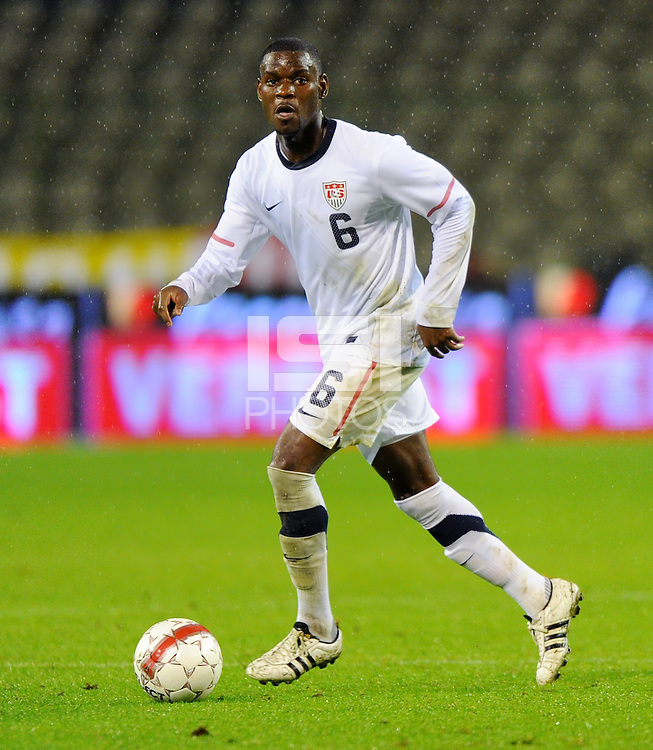 Maurice Edu of team USA during the friendly match Belgium against USA at King Baudoin stadium in Brussel, Belgium on September 06th, 2011.