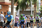 The peloton including Green Jersey Nairo Quintana (COL) Movistar Team pass through Almussafes during Stage 4 of La Vuelta 2019 running 175.5km from Cullera to El Puig, Spain. 27th August 2019.<br /> Picture: Eoin Clarke | Cyclefile<br /> <br /> All photos usage must carry mandatory copyright credit (© Cyclefile | Eoin Clarke)