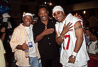 (l to r) Russell Simmons, Jesse Jackson, and LL Cool J pose for a photo during The Source Hip-Hop Music Awards 2001 at the Jackie Gleason Theater in Miami Beach, Florida.  8/20/01  Photo by Scott Gries/ImageDirect