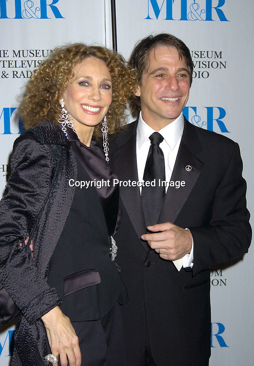 Marisa Berenson and Tony Danza..at The Museum of TV and Radio New York Gala  honoring  Merv Griffin on May 26, 2005 at The Waldorf Astoria Hotel...Photo by Robin Platzer, Twin Images