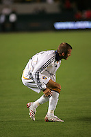 LA Galaxy midfielder David Beckham (23) in pain. CD Chivas USA defeated the LA Galaxy 3-0 in the Super Classico MLS match at the Home Depot Center in Carson, California, Thursday, August 23, 2007.