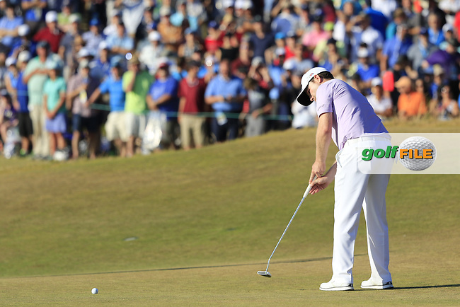 Branden GRACE (RSA) putts on the 17th green during Sunday's Final Round of the 2015 U.S. Open 115th National Championship held at Chambers Bay, Seattle, Washington, USA. 6/22/2015.<br /> Picture: Golffile   Eoin Clarke<br /> <br /> <br /> <br /> <br /> All photo usage must carry mandatory copyright credit (&copy; Golffile   Eoin Clarke)