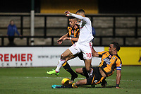 Leon Legge of Cambridge United wins the ball off Kayden Jackson of Accrington Stanley during Cambridge United vs Accrington Stanley, Sky Bet EFL League 2 Football at the Cambs Glass Stadium on 11th November 2017