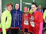 Nicolai Hodgins, Fiona Brannigan, Gillian Fitzpatrick and Lorraine McGuirk who took part in the Duleek & District 5K run. Photo:Colin Bell/pressphotos.ie