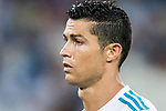 Cristiano Ronaldo of Real Madrid looks on prior to the Santiago Bernabeu Trophy 2017 match between Real Madrid and ACF Fiorentina at the Santiago Bernabeu Stadium on 23 August 2017 in Madrid, Spain. Photo by Diego Gonzalez / Power Sport Images