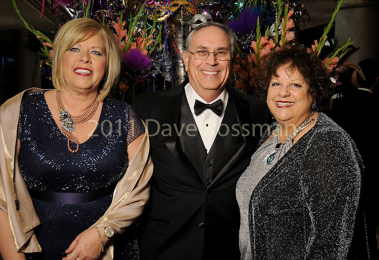 From left: Maureen Hogan with Mike and Rosalee Mierzwa at the 20th San Luis Salute Friday Feb. 05, 2016.(Dave Rossman photo)