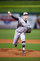 Maryland Terrapins starting pitcher Taylor Bloom (16) delivers a pitch during a game against the Louisville Cardinals on February 18, 2017 at Spectrum Field in Clearwater, Florida.  Louisville defeated Maryland 10-7.  (Mike Janes/Four Seam Images)