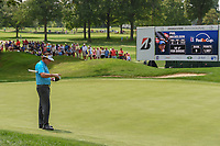 Phil Mickelson (USA) looks over his putt on 3 during 1st round of the World Golf Championships - Bridgestone Invitational, at the Firestone Country Club, Akron, Ohio. 8/2/2018.<br /> Picture: Golffile | Ken Murray<br /> <br /> <br /> All photo usage must carry mandatory copyright credit (&copy; Golffile | Ken Murray)