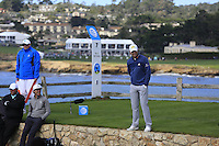 Justin Rose (ENG) on the par3 7th tee at Pebble Beach Golf Links during Saturday's Round 3 of the 2017 AT&amp;T Pebble Beach Pro-Am held over 3 courses, Pebble Beach, Spyglass Hill and Monterey Penninsula Country Club, Monterey, California, USA. 11th February 2017.<br /> Picture: Eoin Clarke | Golffile<br /> <br /> <br /> All photos usage must carry mandatory copyright credit (&copy; Golffile | Eoin Clarke)