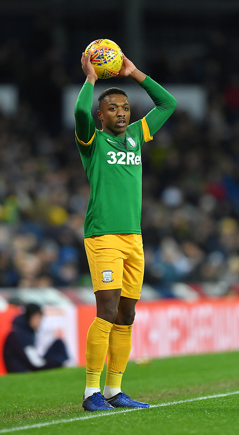 Preston North End's Darnell Fisher <br /> <br /> Photographer Dave Howarth/CameraSport<br /> <br /> The EFL Sky Bet Championship - West Bromwich Albion v Preston North End - Tuesday 25th February 2020 - The Hawthorns - West Bromwich<br /> <br /> World Copyright © 2020 CameraSport. All rights reserved. 43 Linden Ave. Countesthorpe. Leicester. England. LE8 5PG - Tel: +44 (0) 116 277 4147 - admin@camerasport.com - www.camerasport.com