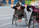 RIO DE JANEIRO - 8/9/2016:  Ilana Dupont competes in the Women's 100m - T53 Final in the Olympic Stadium during the Rio 2016 Paralympic Games. (Photo by Matthew Murnaghan/Canadian Paralympic Committee