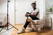 OSTERSUND, SWEDEN - APRIL 14: Jordan Attah Kadiri of Ostersunds FK poses for a portrait in his apartment on April 14, 2020 in Ostersund, Sweden. (Photo by David Lidström Hultén/LPNA)