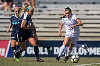 Sanford, FL - Saturday Oct. 14, 2017:  A Pride player dribbles away from pressure during a US Soccer Girls' Development Academy match between Orlando Pride and NC Courage at Seminole Soccer Complex. The Courage defeated the Pride 3-1.