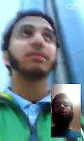 """Pictured: Skype chat images of Aseel Muthana recovered from Forhad Rahman's phone. They are dated 22/02/2014 (the day after Aseel Muthana left the UK). The small inserted picture is of RAHMAN<br /> Re: Three men accused of helping a Cardiff teenager travel to Syria to fight with Islamic extremists are facing jail.<br /> Kristen Brekke, 20, from Cardiff, Forhad Rahman, from Cirencester, and Adeel Ulhaq, from Nottinghamshire, have been found guilty of helping in the preparation of an act of terrorism.<br /> The Old Bailey heard they helped Aseel Muthana, 19, join so-called Islamic State terrorists in February 2014.<br /> The court heard the defendants shared the same """"highly-radical ideology"""".<br /> They will be sentenced later on Wednesday."""
