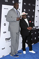 NEW YORK, NY - MAY 16: Shaquille O'Neal, Cedric the Entertainer at Turner Upfront 2018 at Madison Square Garden in New York. May 16, 2018 Credit:/RW/MediaPunch