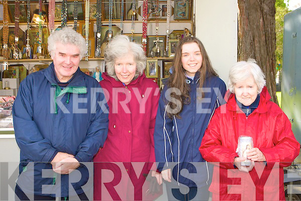 visiting the Relics of Saint Theresa of the Child Jesus in St Mary's Cathedral Killarney on Tuesday was l-r: Michael, Maureen, Carmel and Sheila Ryan Killarney