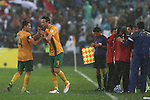 2014 FIFA World Cup Brazil Asian Qualifiers (Final Round) Australia v Iraq at Stadium Australia. Socceroos Tim Cahill gets substituted for Josh Kennedy. Sydney, Australia, Tuesday, June 18th, 2013. Photo:(Steve Christo)