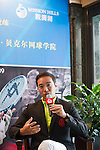 Mission Hills vice-chairman Tenniel Chu gives a press conference at Mission Hills Resort on 19 March 2016, in Shenzhen, China. Photo by Lucas Schifres / Power Sport Images