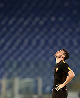 Calcio, Serie A: Roma, stadio Olimpico, 16 settembre 2017.<br /> Roma's captain Alessandro Florenzi celebrates after winning 3-0 the Italian Serie A football match between AS Roma and Hellas Verona at Rome's Olympic stadium, September 16, 2017.<br /> UPDATE IMAGES PRESS/Isabella Bonotto