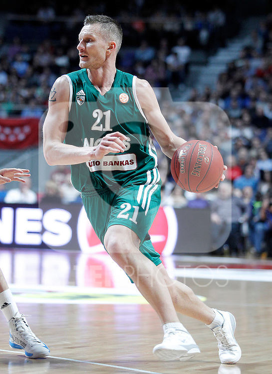 Zalgiris Kaunas' Rimantas Kaukenas during Euroleague 2012/2013 match.January 11,2013. (ALTERPHOTOS/Acero)