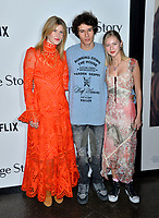 """LOS ANGELES, USA. November 06, 2019: Laura Dern, Ellery Harper & Beanie Boylston at the premiere for """"Marriage Story"""" at the DGA Theatre.<br /> Picture: Paul Smith/Featureflash"""