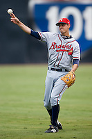 Mississippi infielder Mike Rozema (5) warms up in the outfield at AT&T Field in Chattanooga, TN, Wednesday, July 25, 2007.