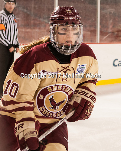 Kali Flanagan (BC - 10) - The Boston College Eagles defeated the Harvard University Crimson 3-1 on Tuesday, January 10, 2017, at Fenway Park in Boston, Massachusetts.The Boston College Eagles defeated the Harvard University Crimson 3-1 on Tuesday, January 10, 2017, at Fenway Park.