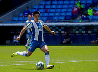 13th June 2020, Barcelona, Spain; La Liga football, RCD Espanyol versus Alaves;  RCD Espanyols Wu Lei scores his goal for 2-0 in the 47th minute