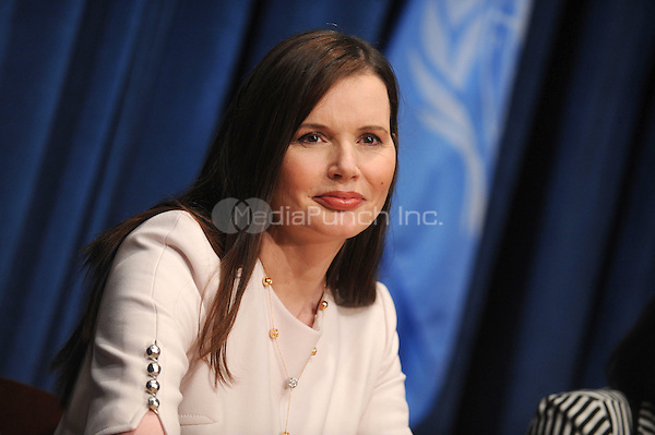 Geena Davis at the conference for 'Engaging Philanthropy to Promote Gender Equality and Women's Empowerment' at United Nations Headquarters in New York City. February 22, 2010. Credit: Dennis Van Tine/MediaPunch
