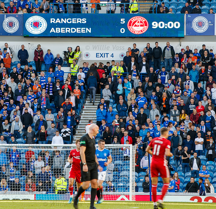28.09.2018 Rangers v Aberdeen: Rangers put five past Aberdeen at Ibrox