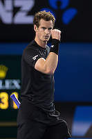 Andy Murray (GBR)<br /> <br /> Tennis - Australian Open 2015 - Grand Slam -  Melbourne Park - Melbourne - Victoria - Australia  - 25 January 2015. <br /> &copy; AMN IMAGES