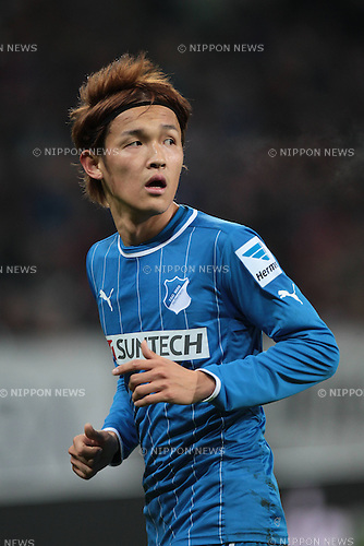 Takashi Usami (Hoffenheim),.FEBRUARY 17, 2013 - Football / Soccer :.Bundesliga match between TSG 1899 Hoffenheim 0-1 VfB Stuttgart at Rhein-Neckar-Arena in Sinsheim, Germany. (Photo by AFLO)
