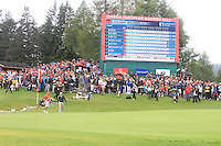 Rory McIlroy (NIR) finishing off on the 18th during the final day of the Omega European Masters, Crans-Sur-Sierre, Crans Montana, Switzerland.4/9/11.Picture: Golffile/Fran Caffrey..