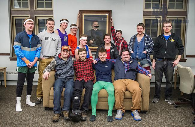 Feb. 28, 2015; Stache Bash from Dillon Hall. (Photo by Barbara Johnston/University Photographer)