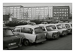 Trabant cars and social housing near Alexanderplatz, East Berlin, 18 November 1989. Photograph copyright Graham Harrison.