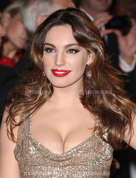 Kelly Brook arriving for the Royal World Premiere of 'Skyfall' at Royal Albert Hall, London. 23/10/2012 Picture by: Alexandra Glen / Featureflash
