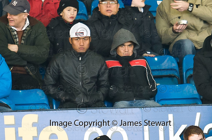 THE TWO PLAYERS FROM INDIA WATCH FROM THE STANDS... (PLEASE CHECK I.D.)