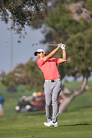 25th January 2020, Torrey Pines, La Jolla, San Diego, CA USA;  Collin Morikawa hits a fairway iron during round 3 of the Farmers Insurance Open at Torrey Pines Golf Club on January 25, 2020