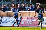 Uppsala 2014-06-26 Fotboll Superettan IK Sirius - IFK V&auml;rnamo :  <br /> Sirius Stefan Silva firar sitt 3-0 m&aring;l<br /> (Foto: Kenta J&ouml;nsson) Nyckelord:  Superettan Sirius IKS Studenternas IFK V&auml;rnamo jubel gl&auml;dje lycka glad happy