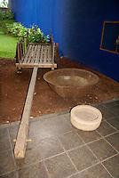 Oxcart in the Museo Nacional de Antropologia David J. Guzman in San Salvador, El Salvador