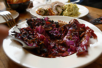 Melbourne, May 20, 2018 - A dish of red cabbage and prune at Gertrude Street Enoteca, Fitzroy, Australia. Photo Sydney Low