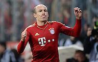 FUSSBALL  DFB-POKAL  HALBFINALE  SAISON 2012/2013    FC Bayern Muenchen - VfL Wolfsburg            16.04.2013 Torjubel nach dem 2:0: Arjen Robben (FC Bayern Muenchen)