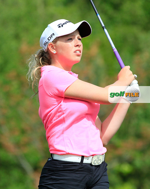 Cloe Frankish (ENG) on the 7th tee during Round 1 of the Irish Women's Open Strokeplay Championship at Dun Laoghaire Golf Club on Saturday 23rd May 2015.<br /> Picture:  Thos Caffrey / www.golffile.ie